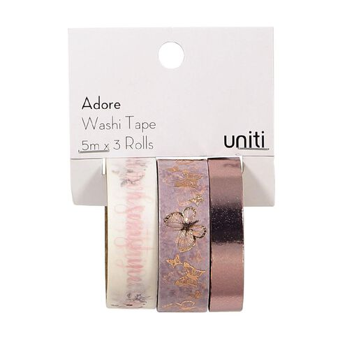 Uniti Adore Washi Tape Pink 3 Pack
