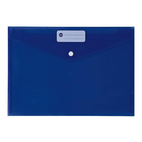 WS Document Envelope Single Dome Blue
