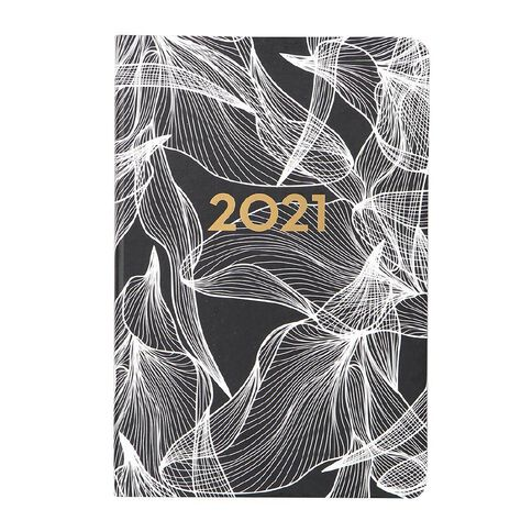 Dats Diary 2021 Day To Page Hard Cover Printed Assorted A5
