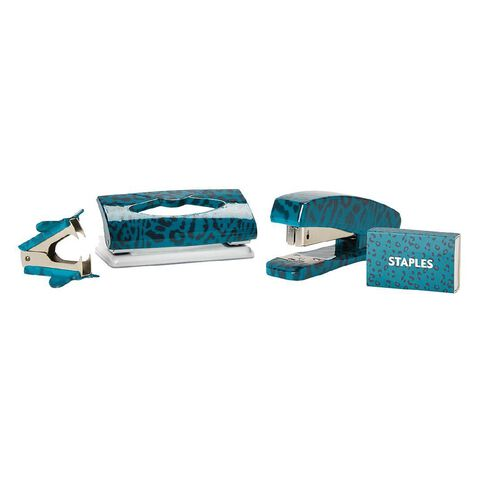 Uniti Fun & Funky Q3 Stapler And Punch Set