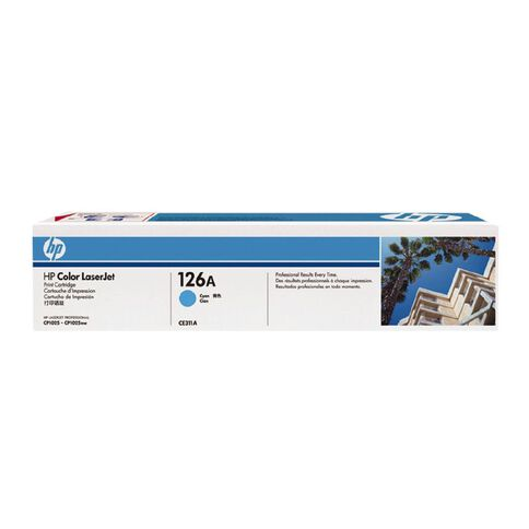 HP Toner 126A Cyan (1000 Pages)