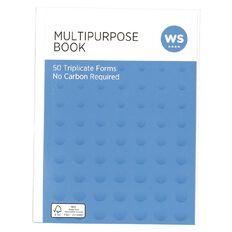 WS Multibook Triplicate Ncr 50 Forms White A5