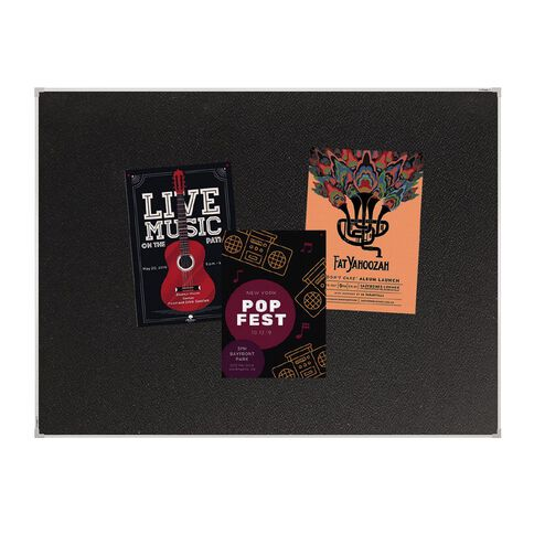 Boyd Visuals Pinboard 1200 x 1500mm Black