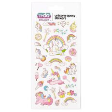 U-Do Unicorn Epoxy Stickers Assorted