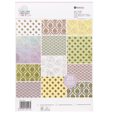 Rosie's Studio Glasshouse Essential Paper Pad 28 Sheet A4