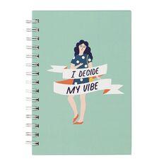 Uniti Empowerment Spiral Hardcover Notebook Green A5