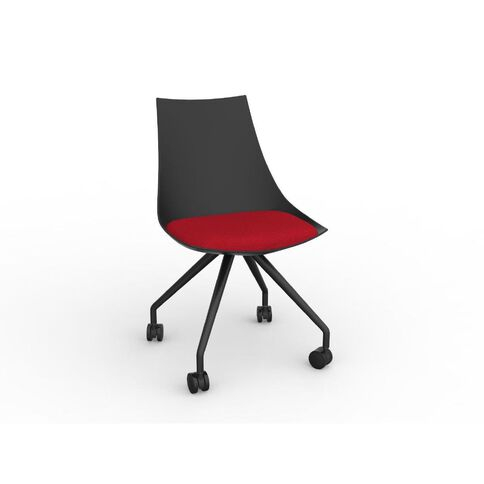 Luna Black Chilli Red Chair Red