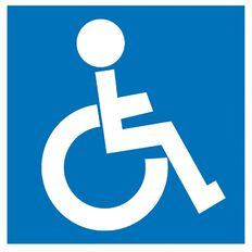 APLI Self Adhesive Disabled Blue