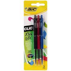 Bic Clic Pens 3 Pack