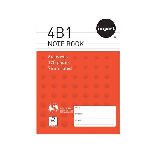 Impact Note Book 4B1 7mm Ruled 64 Leaf Red