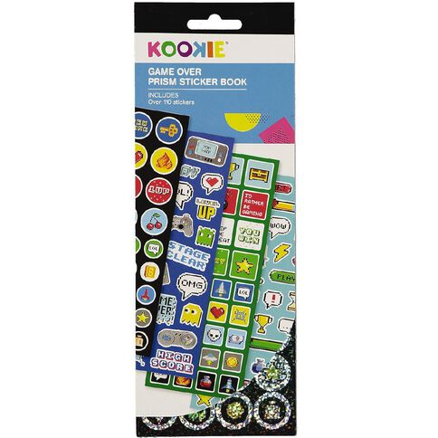 Kookie Prism Sticker Book 4 Page Game Over