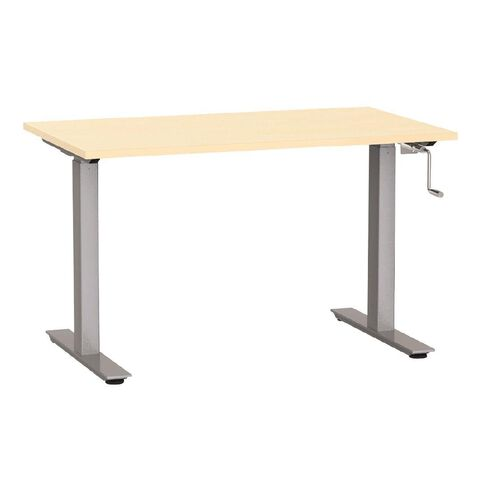 Agile Height Adjustable Desk 1200 Nordic Maple/Silver