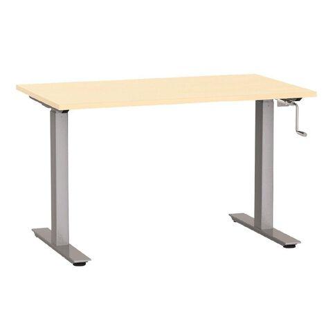 Agile Height Adjustable Desk 1200 Nordic Maple/Silver