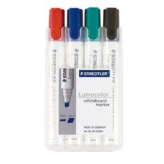 Staedtler Lumocolor Whiteboard Marker Chisel Wallet Of 4
