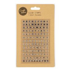 Uniti Stamp Letters and Numbers Clear 1 Sheet