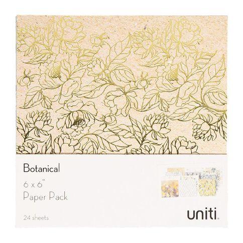 Uniti Botanical Paper Pack 6in x 6in