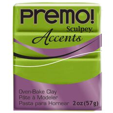 Sculpey Premo Accent Clay 57g Bright Pearl Green