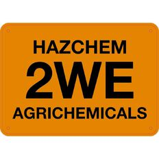 Impact Hazchem 2We Agrichemicals Sign Small 240mm x 340mm