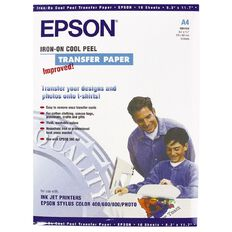 Epson Paper S041154 Iron-on Transfer 124gsm A4 10 Pack