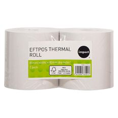 Impact Eftpos Roll Roll 80 x 80mm Twin Pack