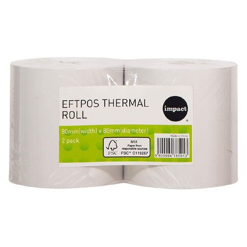Impact Eftpos Roll 80 x 80mm Twin Pack