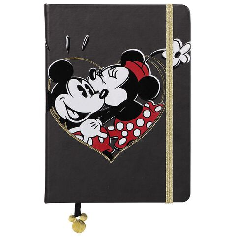 Mickey Mouse and Minnie Premium Notebook PU A5