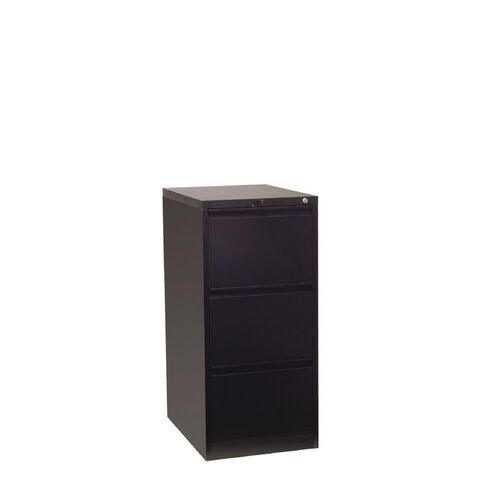 Workspace Filing Cabinet 3 Drawer Black