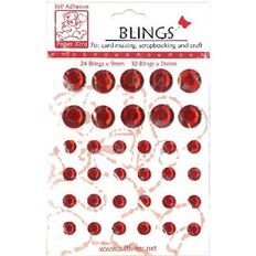 Blings Stick On Bling Red