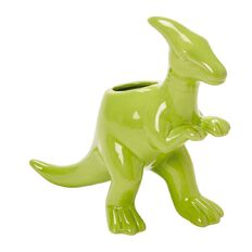 Kookie Dinosaur Pen Holder Green