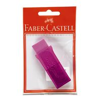 Faber-Castell Sharpener Single Hole with Eraser Silver