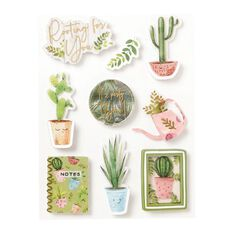 Uniti Plant Lady Dimensional Stickers