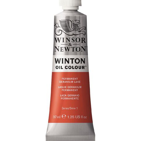 Winsor & Newton Winton Oil Paint 37ml Permanent Geranium Lake Orange