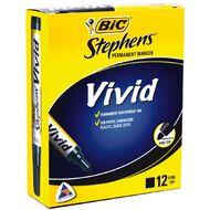 Bic Fine Vivid Marker 12 Pack Black