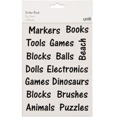 Uniti Sticker Book Toy Room