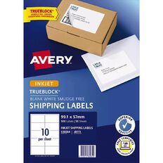 Avery Shipping Labels with Trueblock White 500 Labels