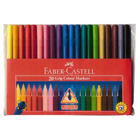 Faber-Castell Felt Pens Grip Wallet 20 Pack