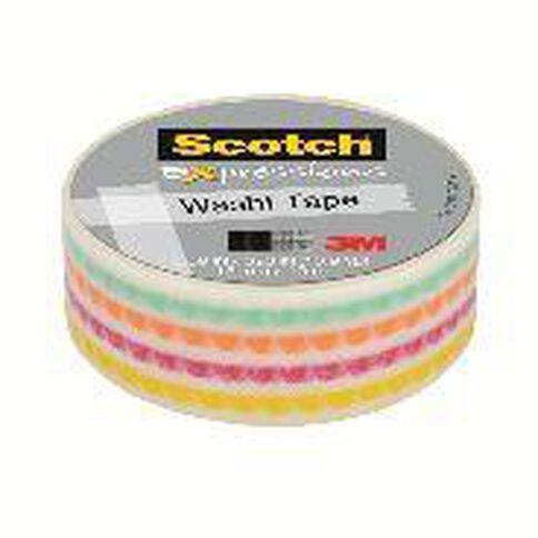 Scotch Washi Craft Tape 15mm x 10m Funky Dots