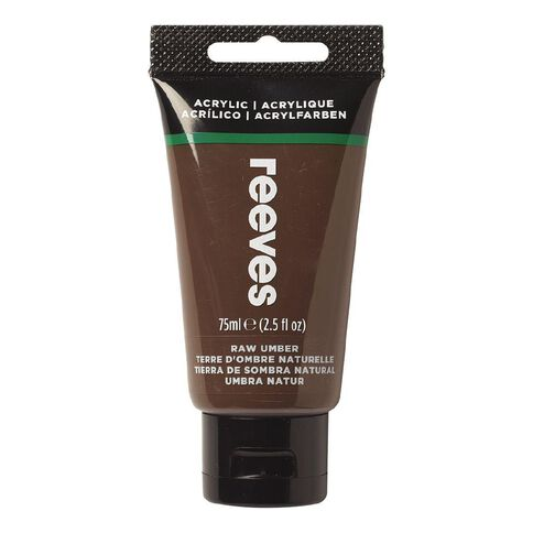 Reeves Fine Acrylic Raw Umber 540 75ml Brown 75ml