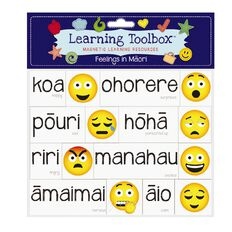 Learning Tool Box Magnetic NZ Maori Emotes Assorted
