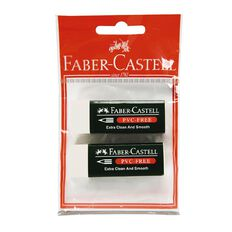 Faber-Castell Eraser 7085-20 Medium 2 Pack White