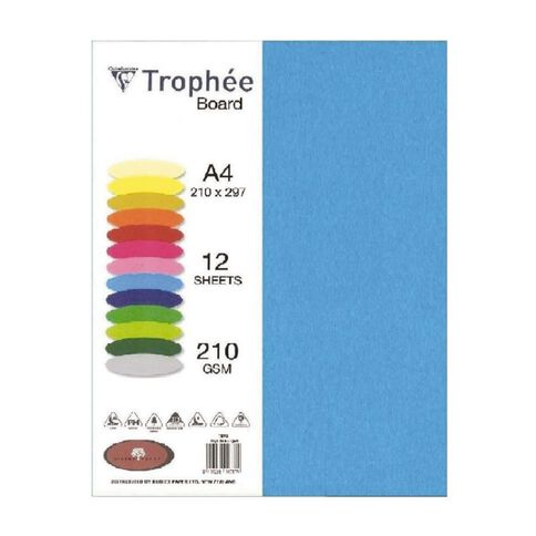 Trophee Board 210gsm 12 Pack Royal Blue A4