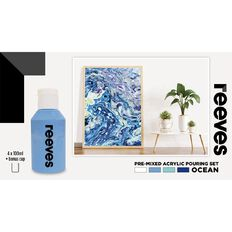 Reeves Paint Pouring Set Ocean 4 Pack