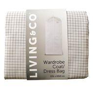Living & Co Wardrobe Coat/Dress Bag White