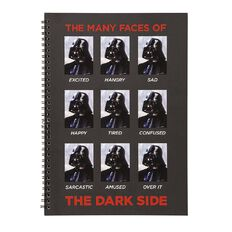 Star Wars Adult Notebook The Many Faces Of Black A4