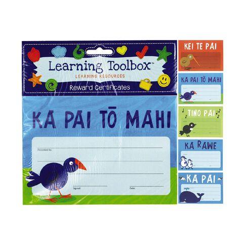 Learning Tool Box Reward Certificates Maori A5 Assorted 30 Pack