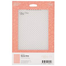 Couture Creations Cest La Vie Swiss Dots Embossing Folder 5in x 7in