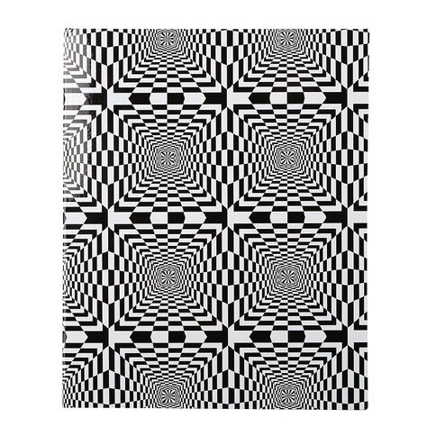 WS Book Cover Illusions Black/White 45cm x 1m