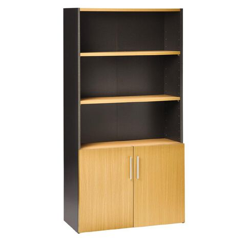 Jasper J Emerge 700 Wood Doors Storage Cupboard Beech/Ironstone
