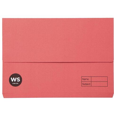 WS Manilla Document Wallet Foolscap Red