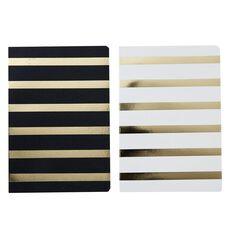 Uniti Black&Gold Notebook 2 Pack A5